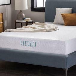 """LUCID 10"""" Dual-Layered Gel Memory Foam Mattress, Queen"""