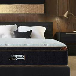 BedStory 12 inch FULL Gel Infused Memory Foam Hybrid Mattres