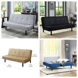 """Mainstays 65"""" 3-Position Adjustable Tufted Futon Sofa Bed Co"""