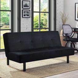 """Mainstays 65"""" 3-Position Tufted Futon Convertible Couch Sofa"""