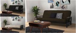 """8"""" Coil Mattress & Wood Armrest Full Futon Frame Home Living"""