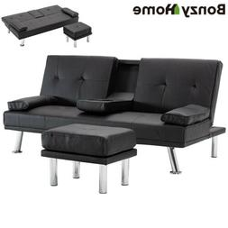Air Leather Sofa Bed Convertible Folding Futon Couch Lovesea