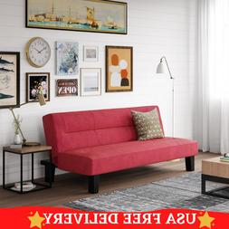 Futon Sofa Full Size Red Color Bed Set Sleeper Couch Mattres
