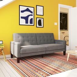 Better Homes & Gardens Porter Fabric Tufted Futon, Multi