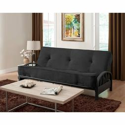 "Black Full Size 8"" Futon Mattress & Futon Frame Set Home Liv"