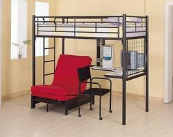 Bunk Bed Futon Chair Combo Workstation Teens Room Dorm Space