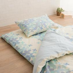 "Futon Mattress Cover ""Crown Prince Flower"" Full Size Cotton"