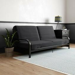 Convertible Futon Sleeper Sofa Bed Metal Frame + Mattress Se