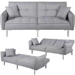 Convertible Sleeper Sofa Bed Sectional Futon Couch Daybed Pu