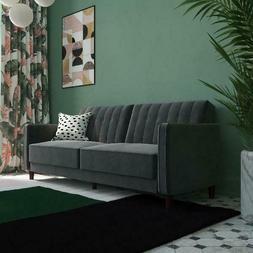 Convertible Tufted Futon Sofa Bed Sleeper Lounge Modern Love