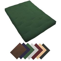 """Deluxe 8"""" Thick Futon Mattress Many Sizes & Colors"""