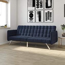 DHP Emily Convertible Futon and Sofa Sleeper, Modern Style w