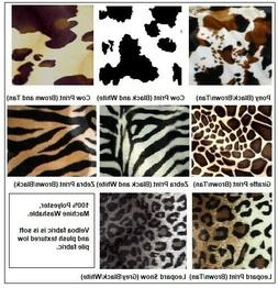 Faux Fur Animal Print Futon Cover Slip Cover Full
