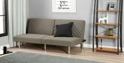Foldable Memory Foam Convertible Sleeper Futon Sofa Bed Gray