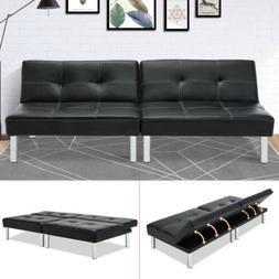 Adjustable Leather Sleeper Sofa Bed Convertible Couch Lovese