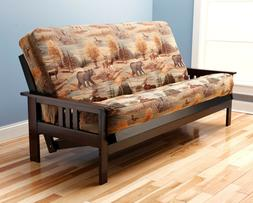 "Kodiak full 81"" espresso Monterey futon. No mattress or w/ma"