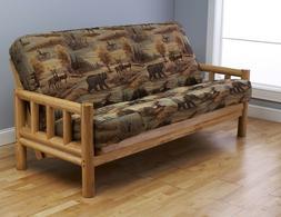 "Kodiak full 81"" natural Lodge futon. No mattress or w/ choic"