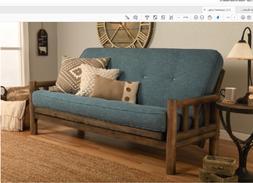 """Kodiak full 81"""" rustic walnut Lodge futon. No mattress or w/"""