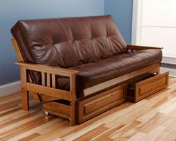 Kodiak full butternut Monterey futons, drawers, No mattress