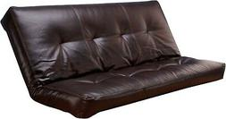 """Full Size Bonded Leather Cappuccino """"Futon Mattress only"""" 7"""""""