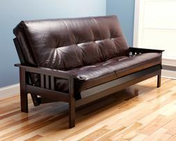 "Full Size ""Futon Frame and Mattress set"" Espresso Wood w/ 7"""