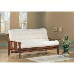 Bowery Hill Full Size Futon Frame in Dirty Oak