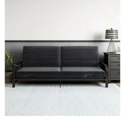 "Full Size Futon Sleeper Bed Frame Sofa 6"" Mattress Couch Con"
