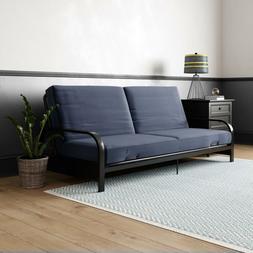 Full Size Futon Sleeper Sofa Bed Frame with Mattress Convert