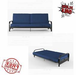 full size metal arm futon sleeper sofa