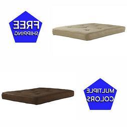 "Futon Mattress 6"" Full-Size Tan Comfortable Sleeping Sitting"