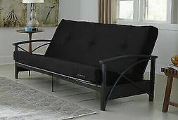 "6"" Futon Mattress Black Tufted Full Double Sleeper Thermobon"