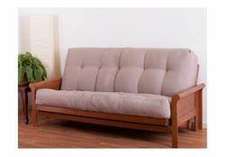 "Blazing Needles Futon Mattress Full Size 10"" inch Brown Sofa"