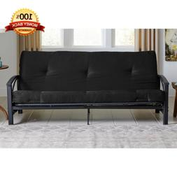Futon Mattress Guest Spare Room Sofa Bed Full Size Black Cou