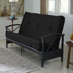 "Futon Mattress Metal Arm 6"" Sofa Ben Comfortable Sleeping Si"