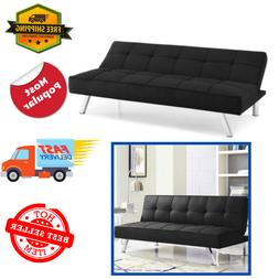 Futon Sofa Bed Convertible Couch 3 Seat Foldable Full Size W