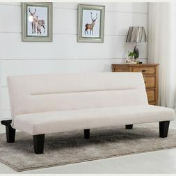 Futon Sofa Bed Furniture Convertible Microfiber Upholstery C