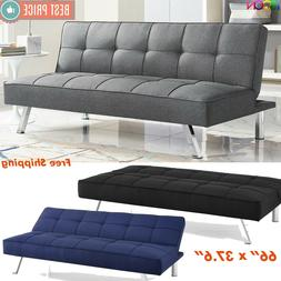 Futon Sofa Bed Sleeper Convertible Couch 3 Seat Foldable Ful