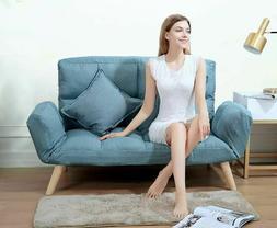 Futon Sofa Fabric Furniture For College Dorm Bedroom Studio