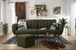 Green Futon Bed Couch Sofa Living Room Furniture Dorm Indust