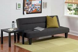 DHP Kebo Futon Couch with Microfiber Cover BLACK