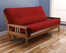 Kodiak Furniture KFMOBTSREDLF5MD3 Monterey Futon Set with Bu