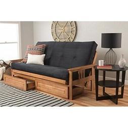 Kodiak Furniture KFMODBTSBLKLF5MD4 Monterey Futon Set with B