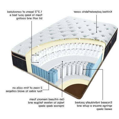 BedStory 12 Infused Foam Mattress Pocket Coil