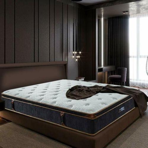BedStory Gel Infused Foam Hybrid Mattress Pocket Bed