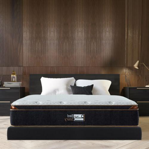 BedStory 12 inch Gel Infused Hybrid Mattress Bed