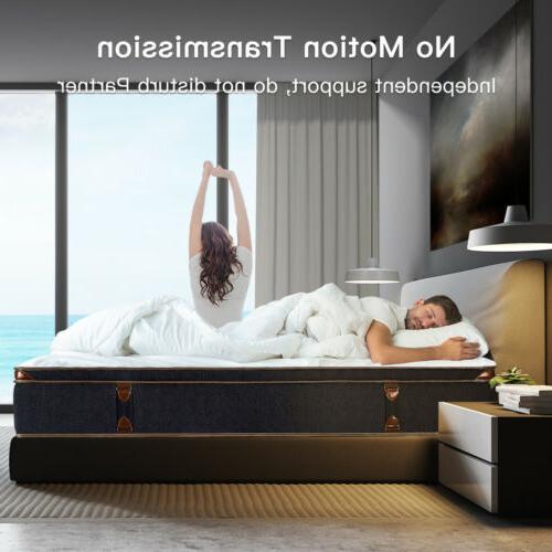 BedStory Inch Gel Infused Foam Hybrid Mattress Pocket Bed