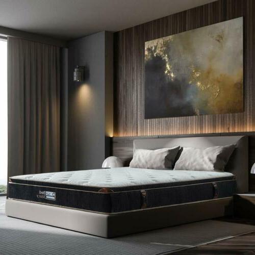 BedStory 12 inch Gel Infused Memory Foam Hybrid Mattress Coil Bed
