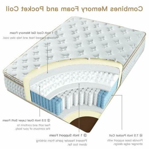 BedStory Queen Mattress Gel Foam Mattress