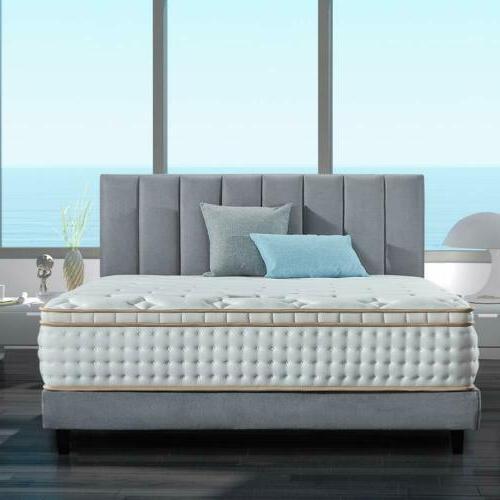 12in queen bed mattress gel infused memory