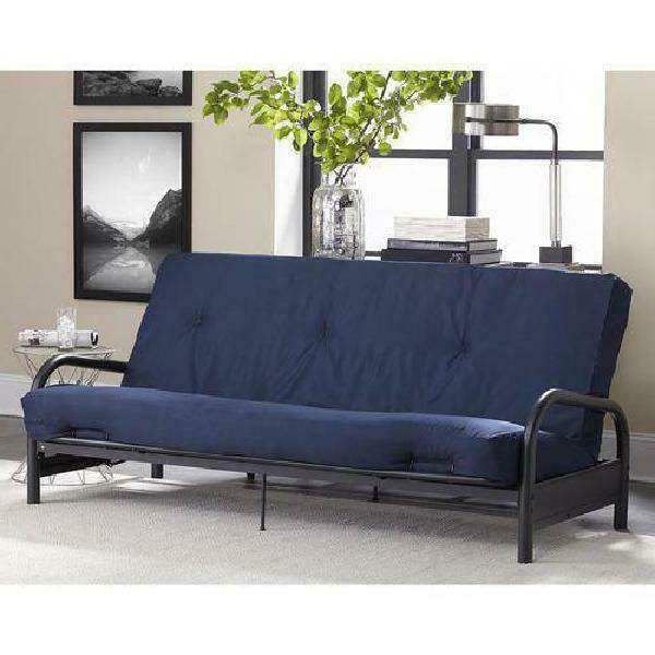 8 tufted full futon mattress navy blue